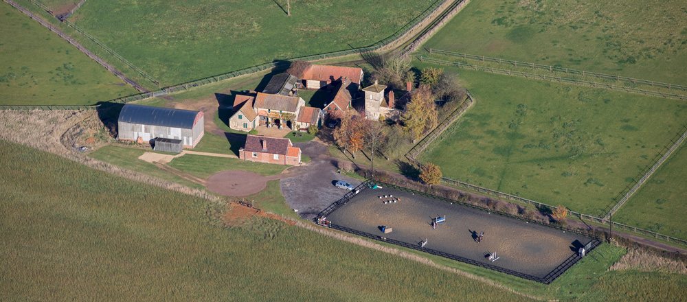 Ariel view of Tower Equine Veterinary Practice
